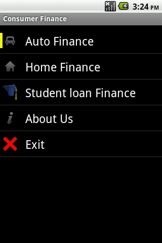 Consumer Finance Android App