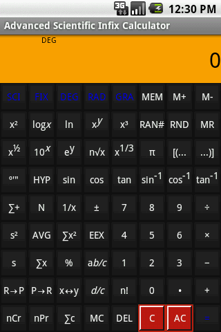 Scientific (Infix) Calculator Advanced Scientific Infix Calculator Android