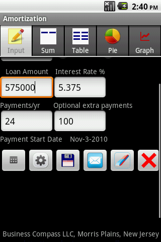 Amortization Android App
