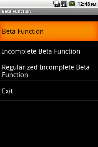 Beta Function Android App