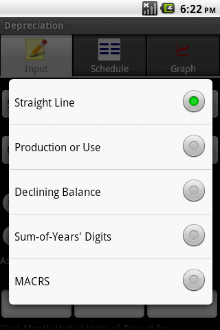 Depreciation Android App