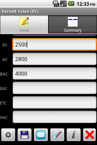Earned Value Android