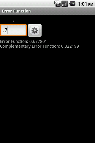 Error Function Android App