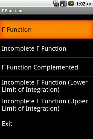 Gamm Function Android App