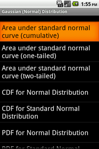 Gaussian Distribution Android app