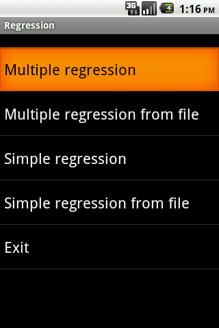 Regression Android
