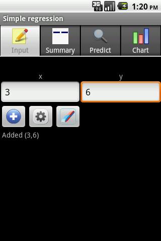 Simple Regression Android