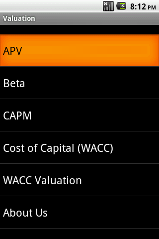 Valuation Android App