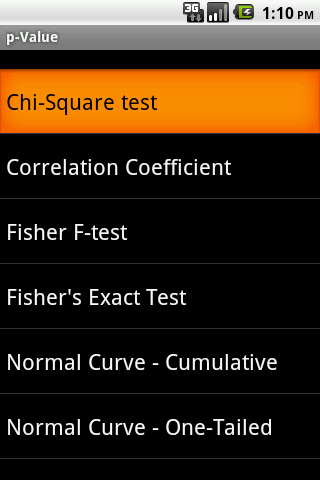 p-Value Android App